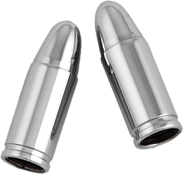 chrome bullet valve caps
