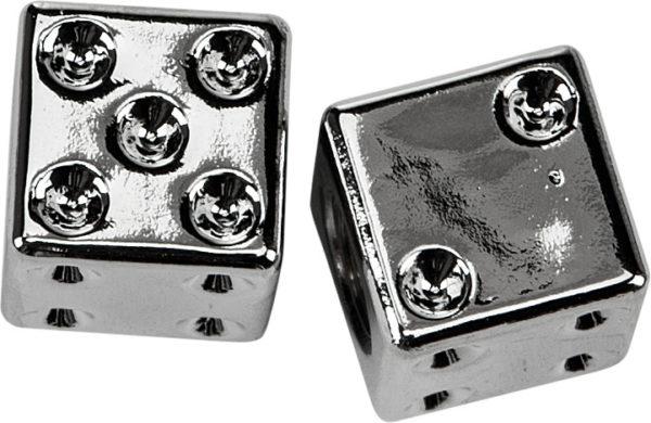 chrome dice valve caps