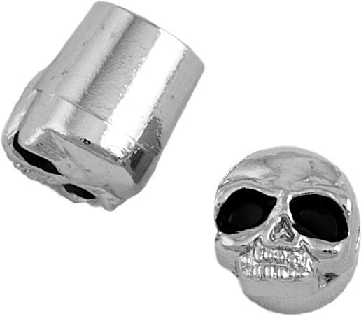 chrome skull valve caps