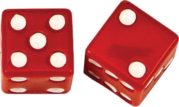 red dice valve cap